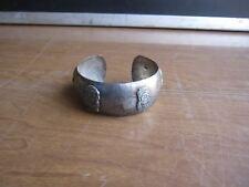 Vintage 0.900 silver cuff ethnic figures Bracelet