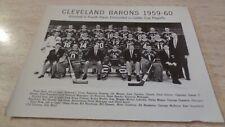1959-60 Cleveland Barons AHL Hockey B & W ORIGINAL Team Photo - Fred Glover