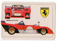 1986 portugués De Bolsillo Calendario con Le Mans Auto De Carreras Ferrari 312p & Logo