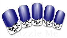 3D Nail Art Decals Transfer Stickers French Tip Design Flowers (3D838)