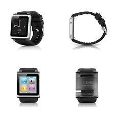 Black Silicone Watch Band Wrist Strap Case Cover For iPod Nano 6 6th Generation