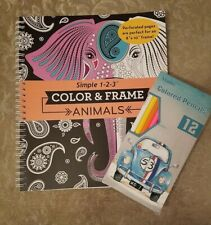 New Coloring Book Animals Colored Pencils Adults Children Great Gift