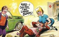 COMIC RUDE RISQUE BAMFORTH NURSE I CAN FEEL TWO LARGE BUMPS POSTCARD - as NEW