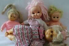 Vtg UNEEDA Set/4 Cloth & Vinyl DOLLS For Parts/Repair (X12)