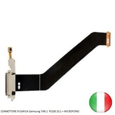 CONNETTORE RICARICA SAMSUNG TAB 2 GT P5100 P5110 FLAT FLEX DOCK USB + MICROFONO