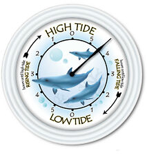 Tide Clock Dolphins - Times Of High Low Tides - Beach Ocean Coast Surfing - GIFT