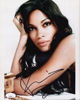 ROSARIO DAWSON Signed DAREDEVIL 8x10 Photo LUKE CAGE Autograph JSA COA Cert