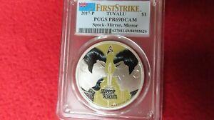 2017 $1 Tuvalu Star Trek Spock Mirror, Mirror 1oz .999 Silver Coin PCGS PR PF 69