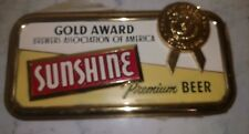 Vintage Sunshine Premium Beer Advertising Sign, Reading PA. , New Old stock