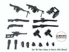 Set 18.1 New Items in March 2016 (Black) RusArms, Weapons for LEGO minifigures