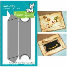 SIMPLE GIFT CARD SLOTS LF1440 - LAWN FAWN Lawn Cuts Steel Craft Dies Made in USA