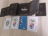 Vintage GLENFIDDICH PLAYING CARDS cased with pad & booklet