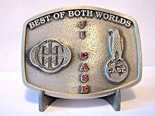 J I Case Corporation IH Best of Both Worlds Eagle Globe Logo Belt Buckle Ltd Ed