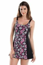 Scoop Neck Floral Swimming Costumes for Women
