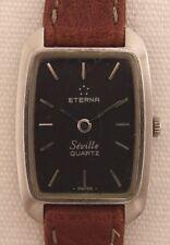 Eterna Seville Women's Watch Wristwatch Steel Vintage 80 Er Jahre