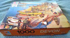 VINTAGE  COMPLETE 1977 MILTON BRADLEY 1000 PIECE JIGSAW PUZZLE-DEVON-COSTA BRAVA