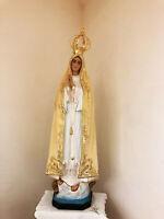 Estatua Madonna Fatima Cm.120 con Corona Our Lady Of Fatima With Crown