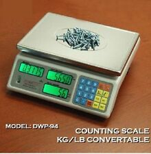 """Digiweigh Counting scale 3 kg x 0.1 g / 6 x 0.0002 lb, Platform 11"""" x 7.5"""",NEW"""