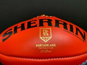 AFL PORT ADELAIDE POWER 150 YEARS SHERRIN OFFICIAL LEATHER FOOTBALL Boak Gray