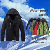 Autumn Men Outdoor Hooded Coat Waterproof Jacket Softshell Climbing Jackets F/1