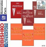 1963 1964 Pontiac Tempest Lemans Shop Service Repair Manual CD Engine Drivetrain