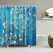 """72""""L×72""""H Shower Curtain Set with Hooks Almond Blossom by Vincent Van Gogh"""