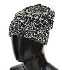 Новый $240 DOLCE GABBANA шапка & шапочка шерсть черный белый зимние теплые мужские один размер