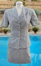 Tailleur e abiti sartoriali da donna neri in maglia di cotone