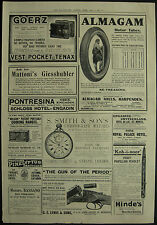 G E Lewis Shotgun Goerz Camera Almagam Tyres Smith Chrono 1911 Adverisement Ad