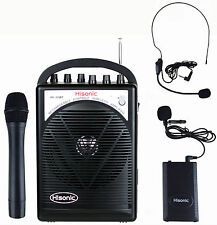 Used Hisonic HS120BT Portable Speaker System with Wireless Microphones