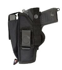 SMITH & WESSON M&P 380 SHIELD EZ PANT BELT OWB GUN HOLSTER WITH EXTRA MAG POUCH