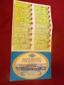 1960's Westchester Country Club Rye NY Golf Scorecard