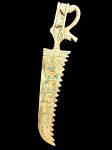 BEAUTIFUL ANCIENT EGYPTIAN HIEROGLYPHIC SPEAR (3) 300 BC