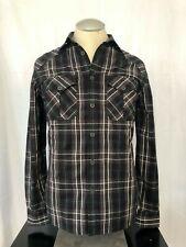True Religion Men's Dress Shirt Long Sleeves Western Polo Plaid Size Small