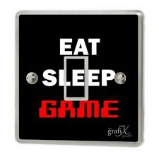 Eat Sleep Game/Xbox/PS4 Light Switch Sticker Vinyl/Graphics/Decal/ Cover sw56