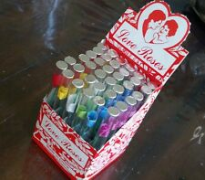 """Love Roses in 4"""" Glass Tubes one case 36 tubes New Free Shipping"""