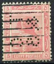 """Egypt 1921-2 SG#90, 5m Pink, """"TC&S"""" Used #D90691"""