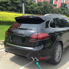 Rear Exhaust Tips Tail Dual Long Pipe End For Porsche Cayenne V6/V8 2011-2014