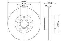 2x TEXTAR Discos de Freno Traseros Pleno 280mm Para NISSAN PRIMASTAR 92153703