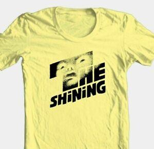 The Shining T-shirt retro 70's Stephen King horror movie 100% cotton yellow tee