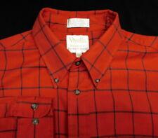 Viyella Patrick James Red Check Long Sleeve Button Front Shirt Men's L