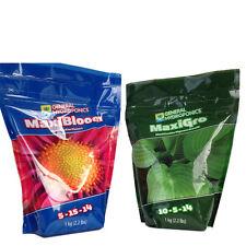 General Hydroponics Maxi-Grow and Maxi-Bloom 1Kg Set Fo Indoor Outdoor Plant
