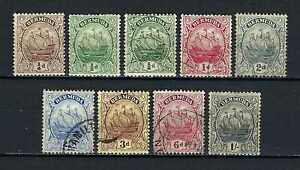 Bermuda 1910-24 Sc#40//48/48a?  Caravel Definitives  MH Used $50.00 TWO SCANS