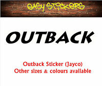290mm Outback Jayco Caravan Replacement Graphic Decal Sticker - Any Colour RV