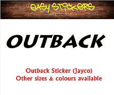 BUY 2 GET 1 FREE!  290mm Outback Jayco Caravan Sticker - Any Colour!