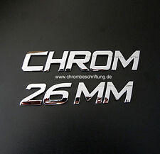 25 Stück - 3D Chrom-Buchstaben Klebebuchstaben Auto-Aufkleber 26mm