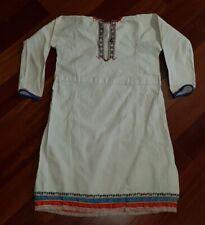 Antique Russian Hutsul folk costume ethnic embroidered linen blouse old