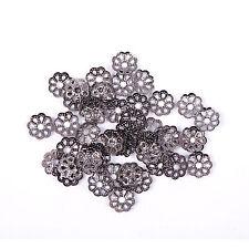 500pcs Metal Flower Shaped Bead Caps Finding 6mm Silver/Golden/Bronze/Copper 6mm