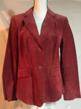 Liz & Co. !00% Suede Red Blazer Women's Size Large NWT MSRP $119.00