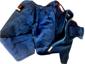 Tatami Gi Nova Kids Jits Jiujitsu Bjj M4 EUC Blue